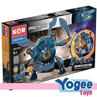 Geomag Kor Proteon Blatta 103 Piece Magnetic Construction Set