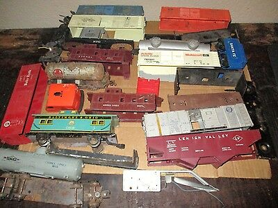 Mixed Lot Of Lionel & Marx Junk Freight Car Pieces