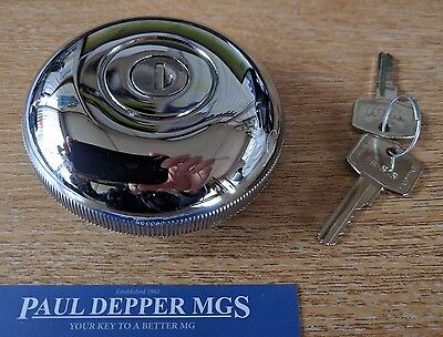 Austin Mini Period Chrome Vented Locking Fuel Cap (AKF1439)