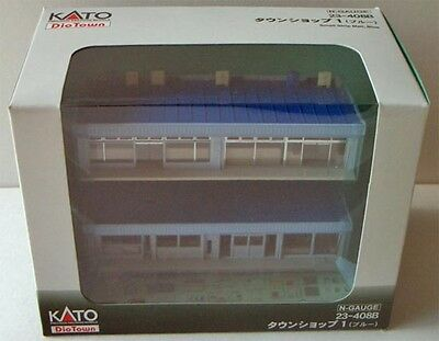 Kato 23-408B Small Strip Mall (Blue) (N scale)