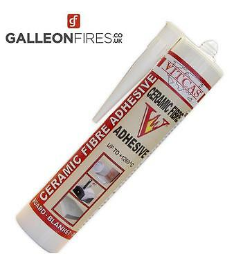Vitcas Ceramic Fibre Adhesive -  310ml for all Types of Ceramic Fibre Products