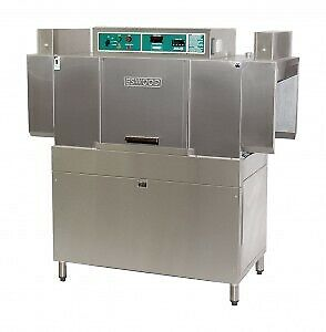 Eswood 100-150 Rack Per Hour 2 Speed Automatic In-Line Conveyor Dishwasher ES150