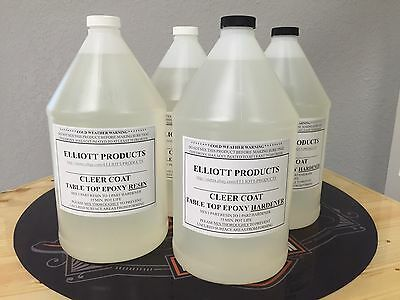 4 gals,TABLE TOP EPOXY RESIN, CRYSTAL CLEAR, HIGH GLOSS , ($40.23/gal) $160.92