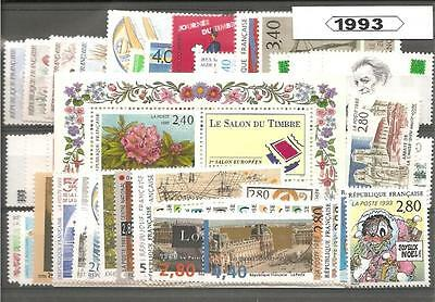 France Francia  1993 Año Completo MNH