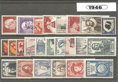 Francia France año completo 1946 Annee year complete
