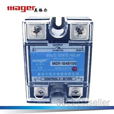 Solid State Relay MGR-1 D48100 SSR 100A DC-AC Input 3-32V DC , Load 24-480V AC