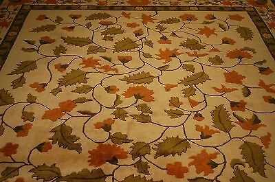 Circa 1950's ANTIQUE ART DECO CHINESE RUG 8.10x11.8 WONDERFUL ROOM SIZE_PERFECT