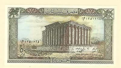 World Banknote - LEBANON -- 50 Livres (Pounds) : Issued 1964-85 - Bacchus Temple