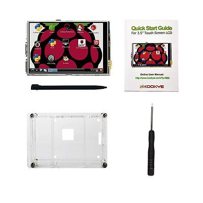 """3.5"""" Raspberry Pi Touch Screen Clear Case For Pi 2 Pi3 Model B Shipping From UK"""