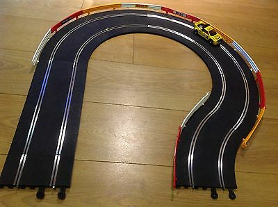 Scalextric Classic Track Curved Extension Set Barriers Mint Refurbished & Tested