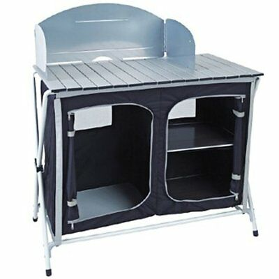 Royal Easy Up Kitchen Stand With Windshield - Camping Awning Caravan