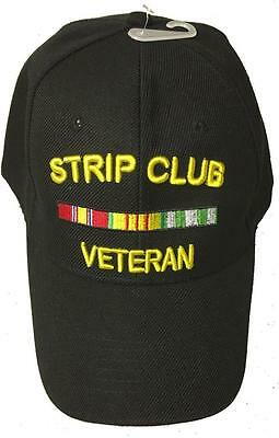 STRIP CLUB VETERAN BASEBALL STYLE EMBROIDERED HAT funny novelty ball fun cap A54