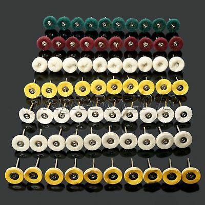 "70pc 1"" Wheel Buffing Polishing Wheels Buffing Pad Brushes Mixed Kit Rotary Tool"