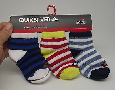 Quiksilver Set 3 Pairs Socks Baby Boys 18 - 24  Months New  A-3