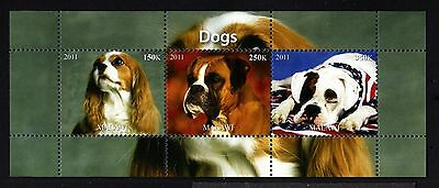 B33-MALAWI-DOGS MNH ** BLOCK.Local private issue.2011.FAUNA-Animal.CHIENS.Perros