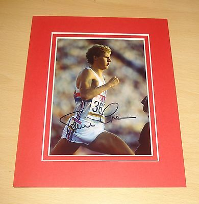 STEVE CRAM HAND SIGNED 10x8 AUTOGRAPH PHOTO MOUNT DISPLAY BRITISH OLYMPICS + COA