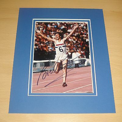BRENDAN FOSTER HAND SIGNED 10x8 AUTOGRAPH PHOTO MOUNT DISPLAY OLYMPICS '76 + COA