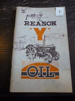 "VIGZOL OIL, FORD FORDSON TRACTOR  ""BROCHURE"" BOOKLET LATE 30's"