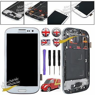 For Samsung Galaxy S3 Gt I9300 Lcd Screen Display Touch Digitizer & Frame White