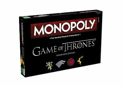 Game of Thrones Collector`s Edition Monopoly Game Indoor Family Fun