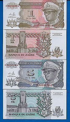 Zaire P-47 & P-48 Year 1993 Uncirculated Banknotes Set # 1