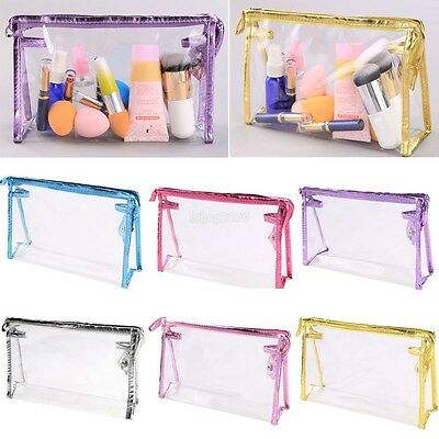 Trasparente Da viaggio Toiletry Holder Make-up Cosmetic Trousse borsa