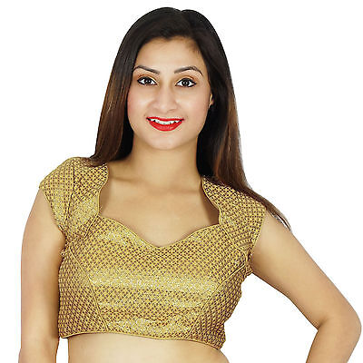 Stitched Blouse Designer Party Wedding Wear Saree Readymade Indian Crop Top