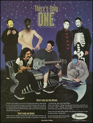 The many faces of Wes Borland Limp Bizkit Ibanez guitar ad 8 x 11 advertisement
