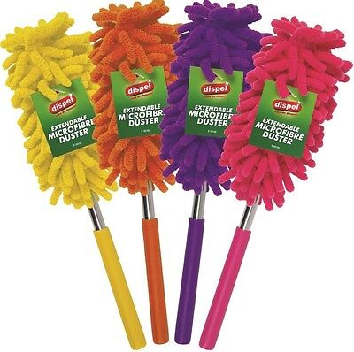 Adjustable Extendable Microfibre Duster Brush Cleaning Dusting Home Micro Fibre