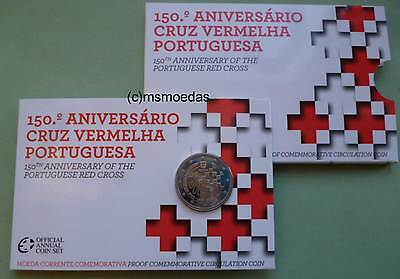Portugal 2 Euro Gedenkmünze 2015 Rotes Kreuz Red Cross Coincard Blister Proof PP
