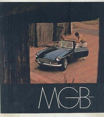 1969 MG MGB Mark II Brochure ww1533