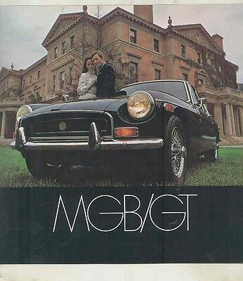 1970 MG MGB GT Brochure ww1537