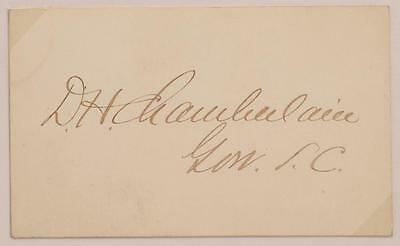 Civil War Colored Cavalry Officer SC Governor Daniel Henry Chamberlain Autograph