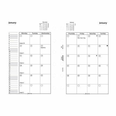 Filofax 2017 Pocket Month on Two Pages Refill, English, 4.75 x 3.25 inches