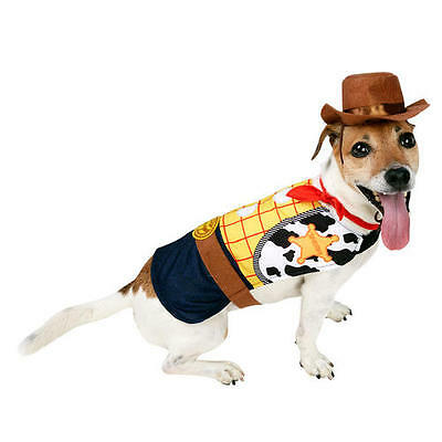 Pet Dog Woody Cat Costume Rubies Disney Toy Story Fancy Dress Outfit XS-M