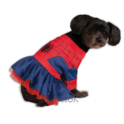 Pet Dog Spiderman Spidergirl Costume Rubies Fancy Dress Avengers Outfit XS-L