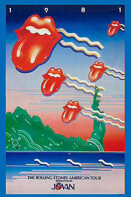 The Rolling Stones American Tour Poster 1981  PROMOTIONAL  Large Format 24x36