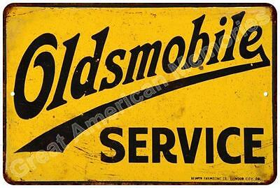 Oldsmobile Service  Vintage Look Reproduction Metal Sign 8x12 8122703