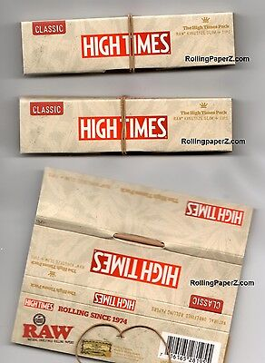3X RAW 'HIGH TIMES PACK' ROLLING PAPERS Connoisseur with Tips LIMITED EDITION