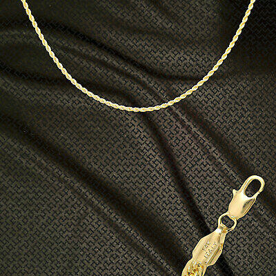 """14K ITALY GOLD PLATED 2mm ROPE CHAIN 18"""" QUALITY GUARANTEED SAME DAY SHIP R2E"""