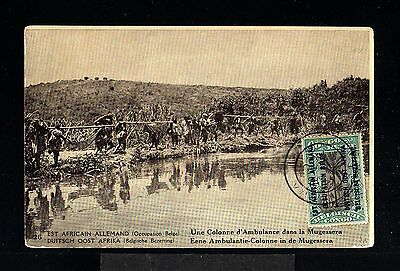 12158-BELGIAN CONGO-OLD POSTCARD EAST AFRICAN GERMAN.1918.WWI.Belgium colonies