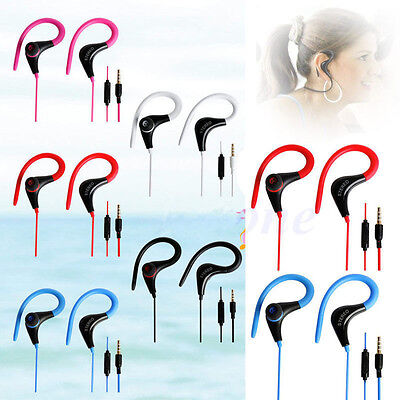 Sport Gym Running Jogging Earphone Earhook Stereo Headphone Mic For Cell Phone