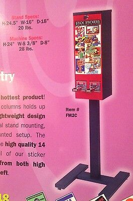 NEW Black Bulk Sticker Tattoo Flat Vending Machine Stand Oak Beaver Northwestern