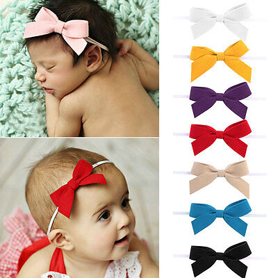 Cute Newborn Baby Girl Headband Infant Toddler Bow Hair Band Girls Accessories