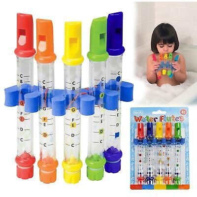 Kids Children Water Flutes Musical Bathtime Toys Fun Bath Tub Tunes Song Sheets