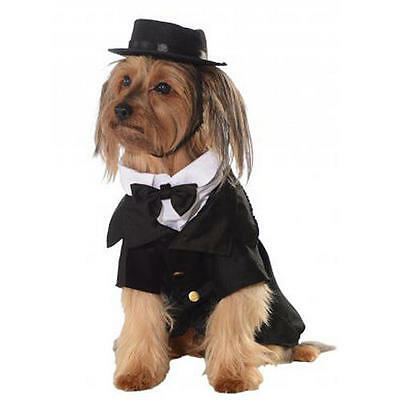 Dog Pet Victorian Gentleman Suit Fancy Dress Costume Dapper Outfit XS-XL