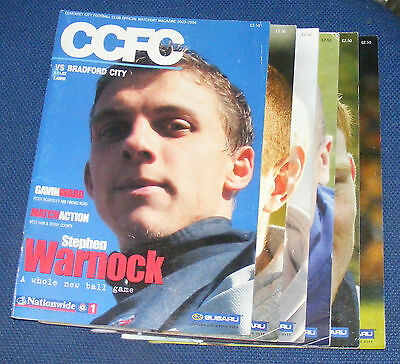 Coventry City Home Programmes 2003-2004