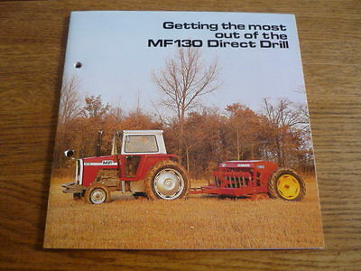 MASSEY FERGUSON DIRECT DRILL TRACTOR  TRUCK BROCHURE EARLY 80's