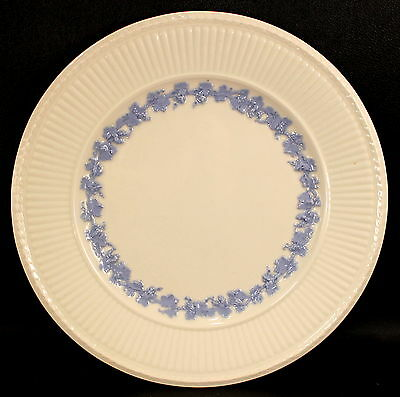 "Wedgwood Queens Ware Edme Blue Grapes Blue on White 9"" Luncheon Plate GREAT COND"
