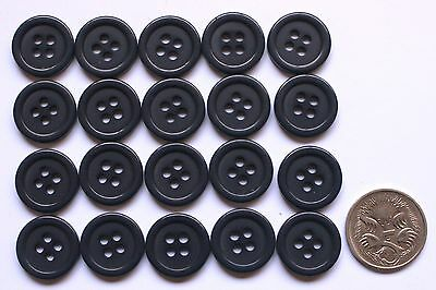 20 x 15 mm MATCHING RIDGED BUTTONS - NAVY SHADES Scrapbooking & Sewing